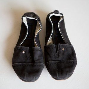 Mad Love Black Canvas Casual Flats Size 5/6